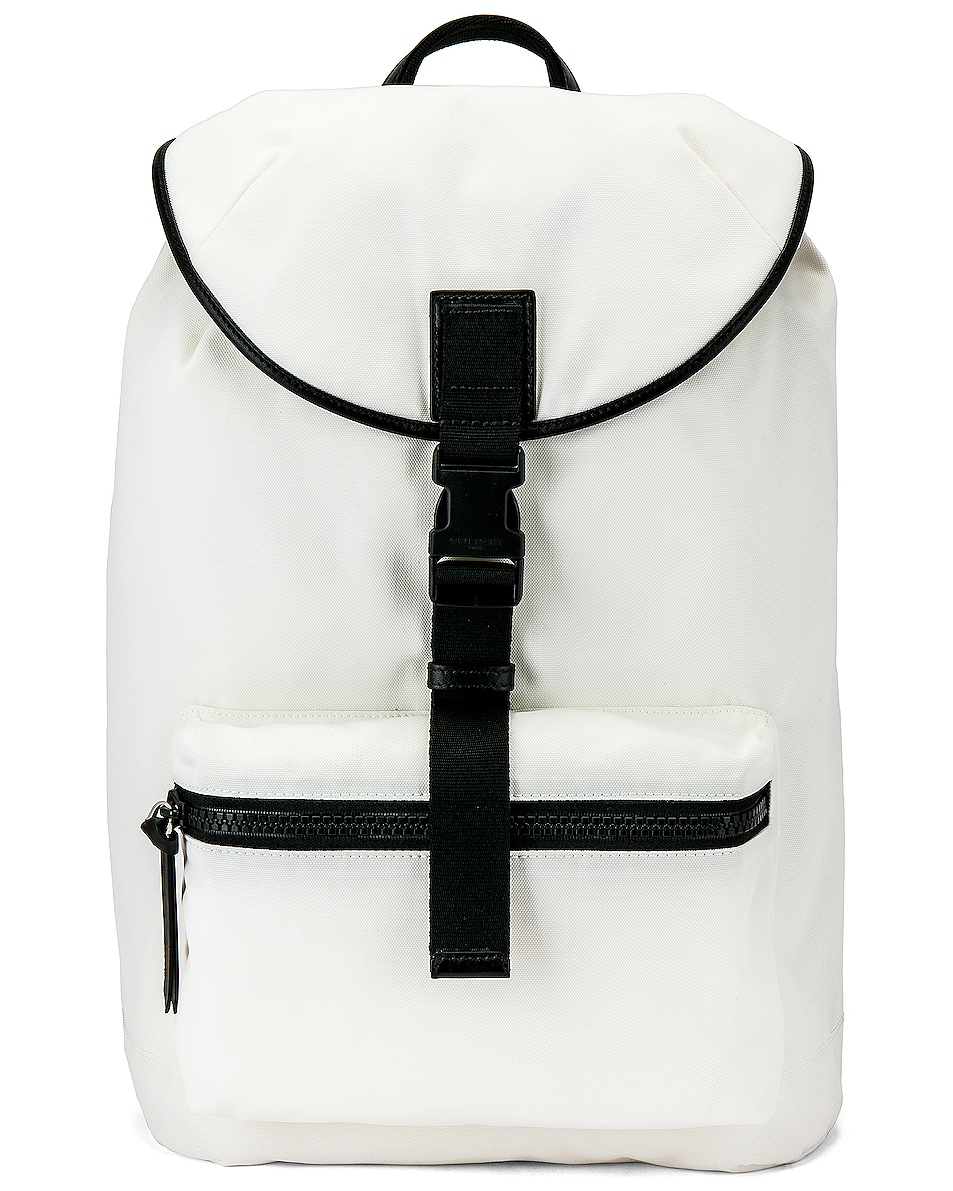 Image 1 of Givenchy Logo Webbing Backpack in White & Yellow