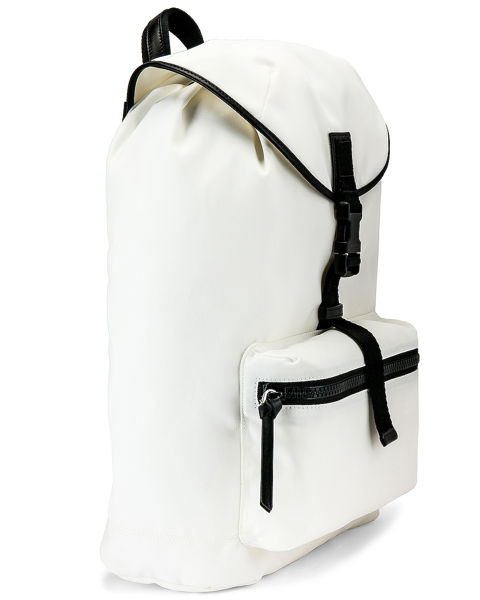 Image 3 of Givenchy Logo Webbing Backpack in White & Yellow