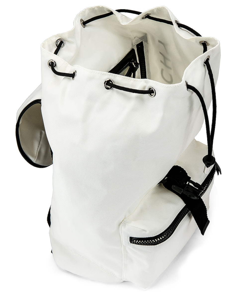 Image 4 of Givenchy Logo Webbing Backpack in White & Yellow