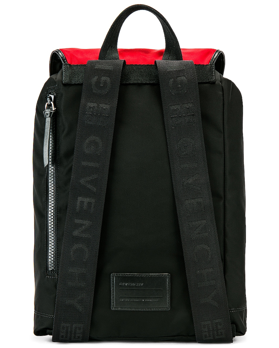 Image 2 of Givenchy Logo Webbing Backpack in Black & Red