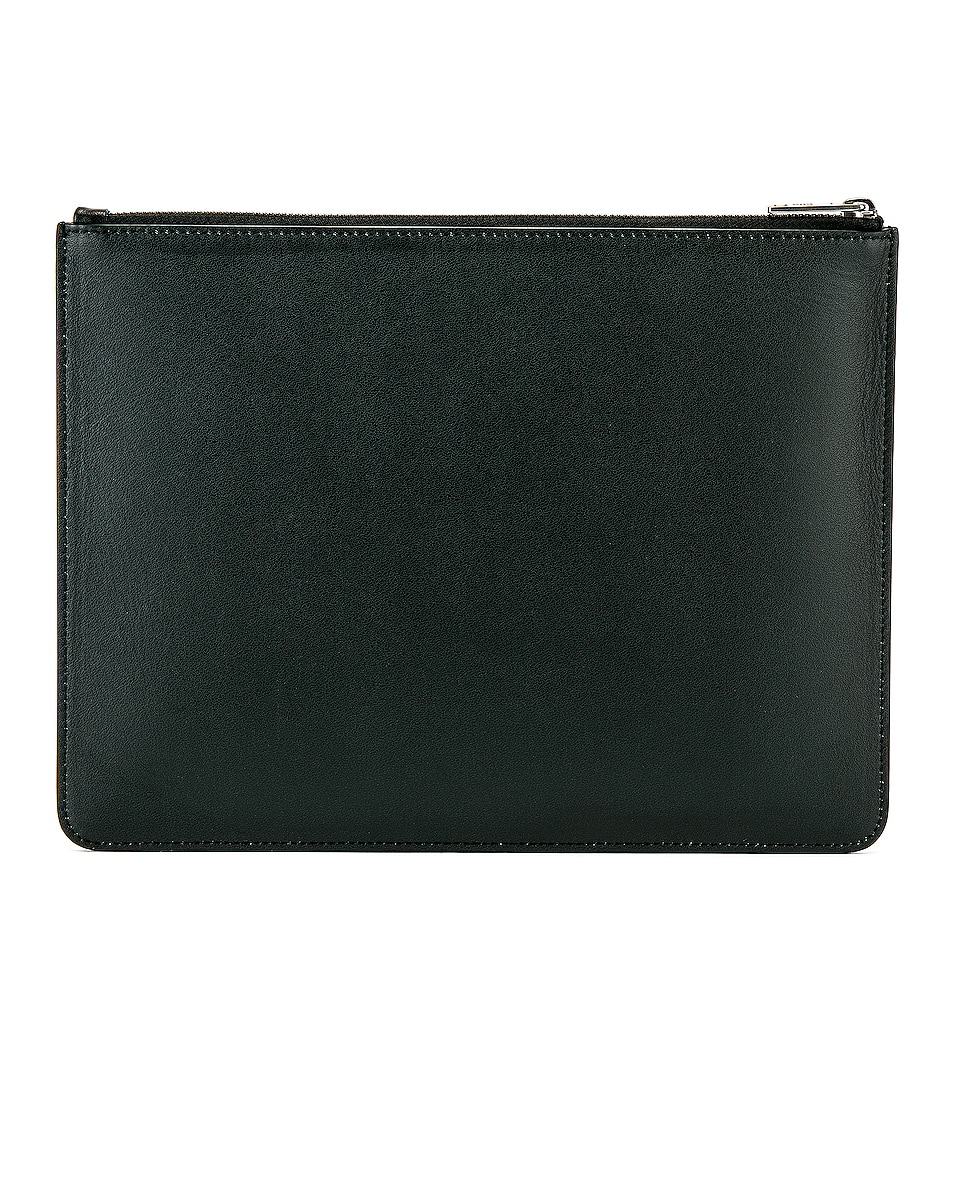 Image 2 of Givenchy Fading Logo Large Pouch in Black & White