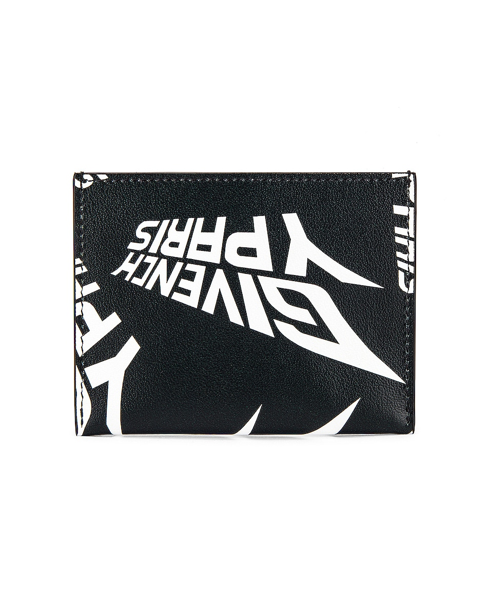 Image 1 of Givenchy 3CC Card Holder in Black & White