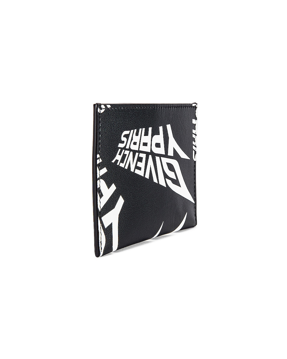 Image 3 of Givenchy 3CC Card Holder in Black & White