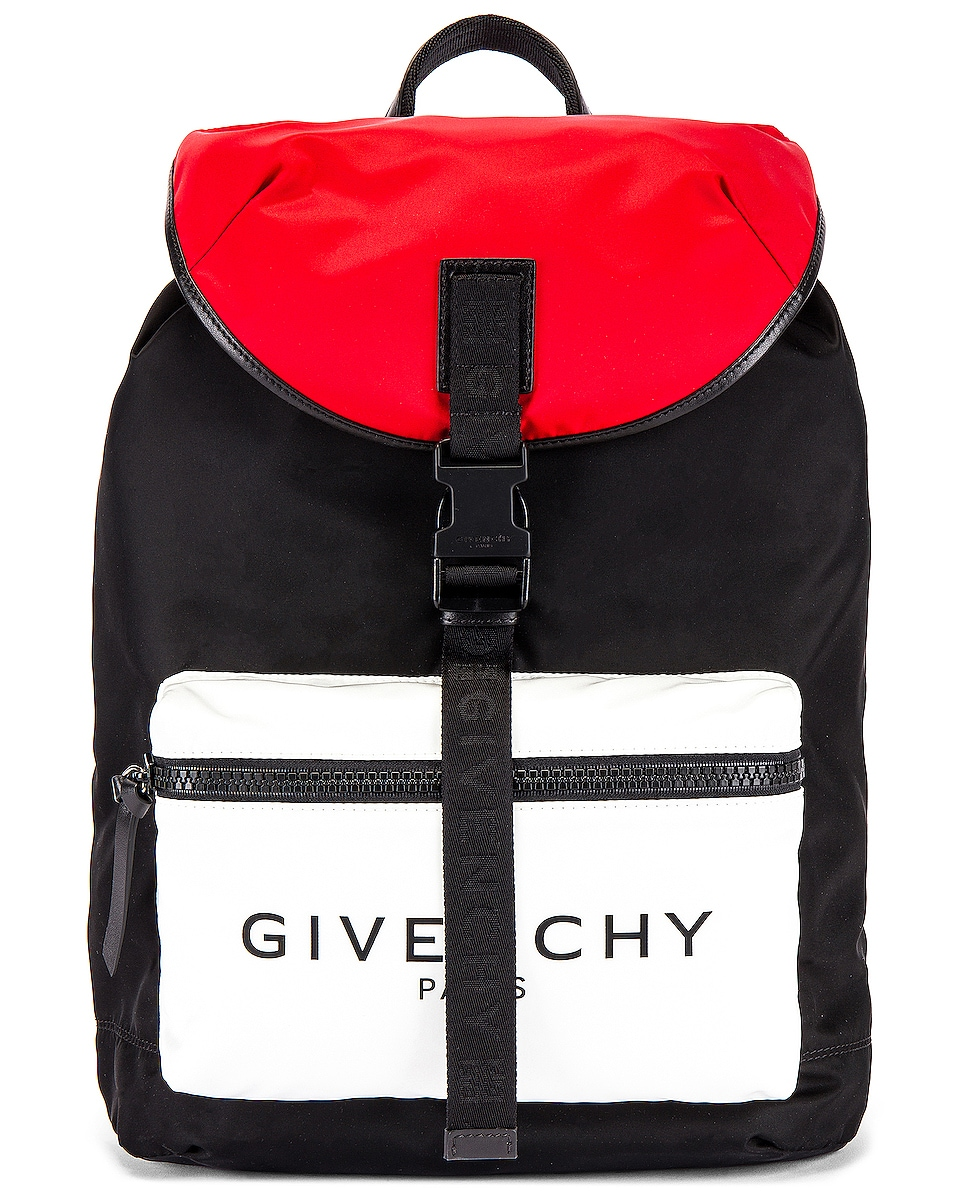Image 1 of Givenchy Backpack in Black & Red & White