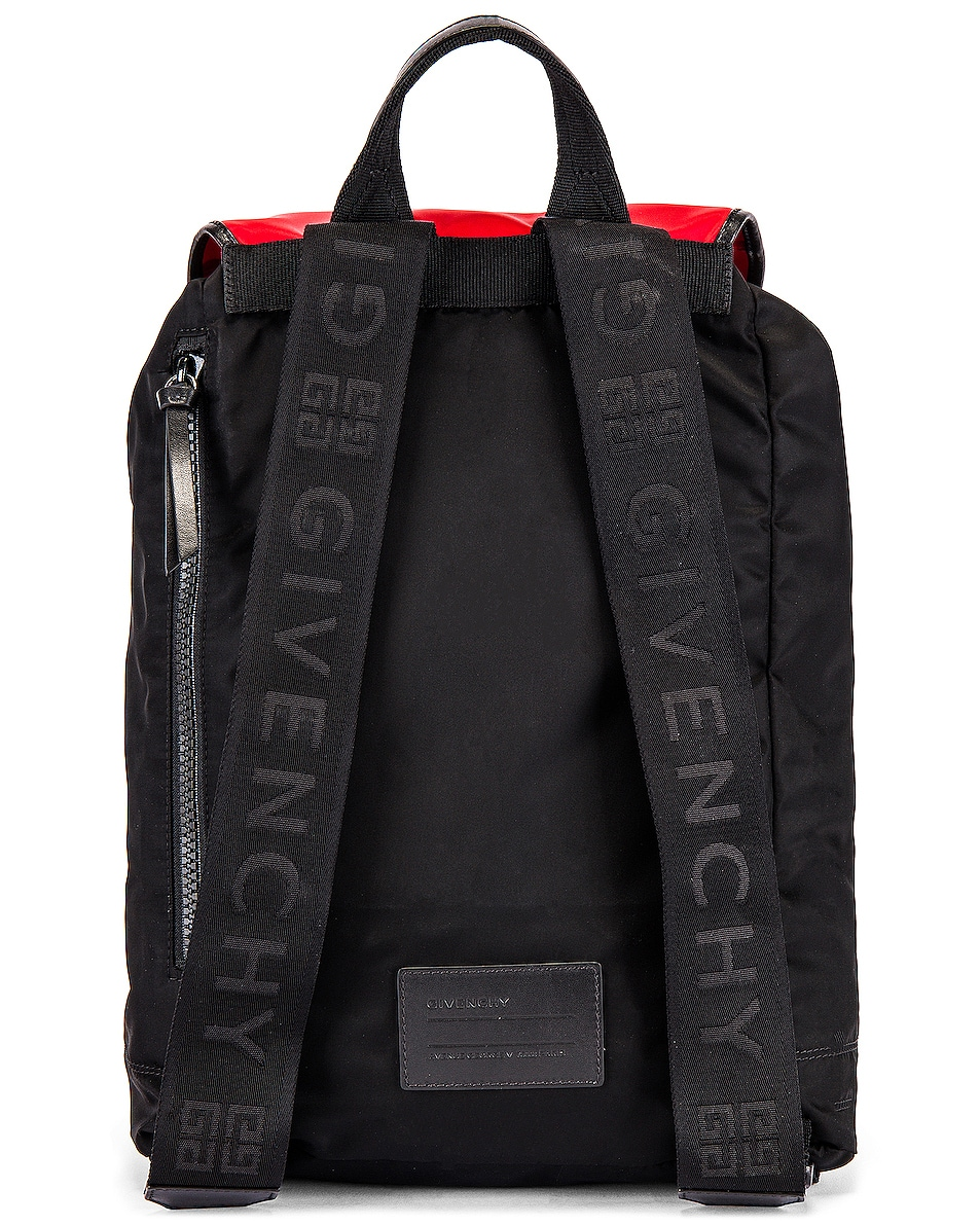 Image 3 of Givenchy Backpack in Black & Red & White