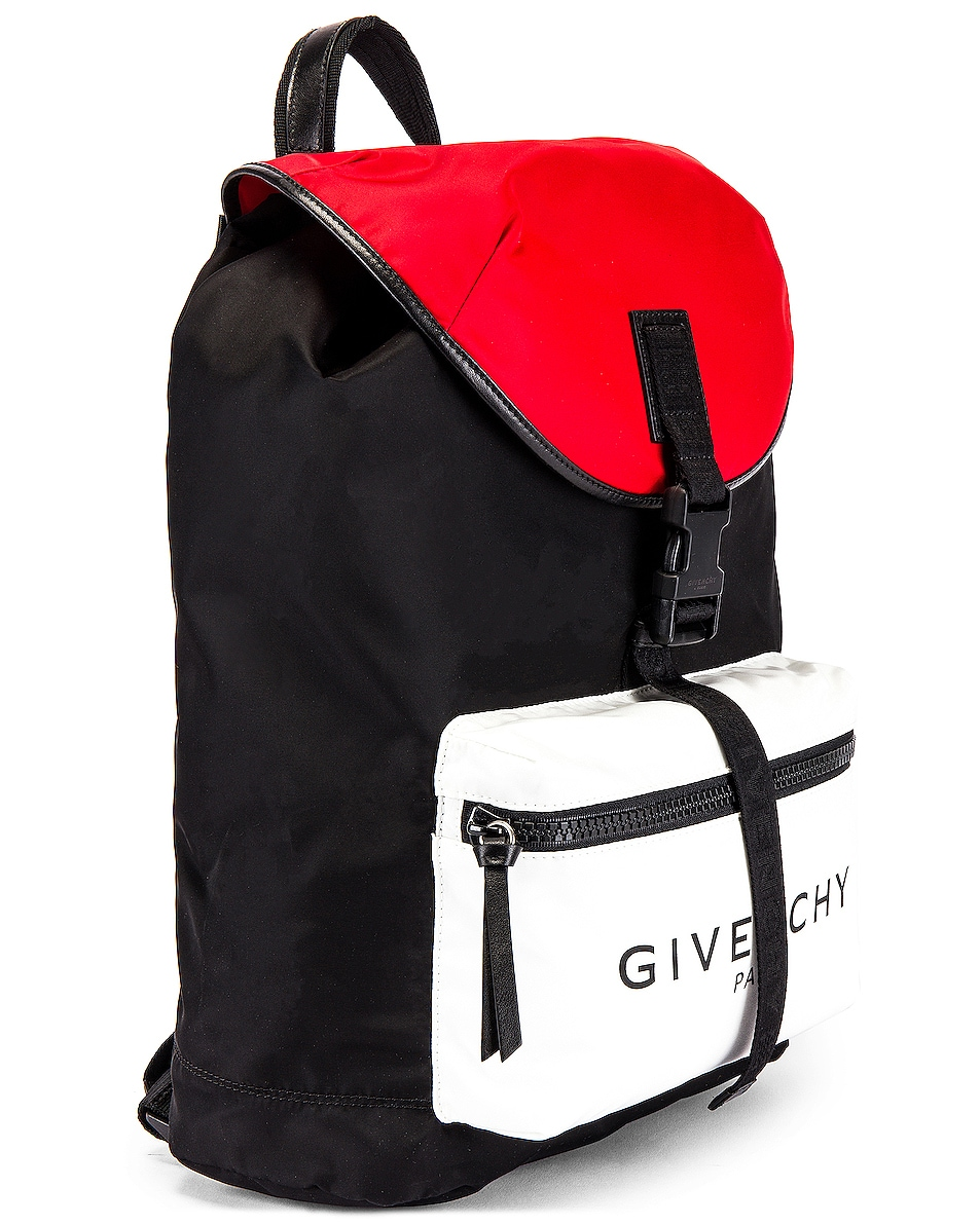 Image 4 of Givenchy Backpack in Black & Red & White