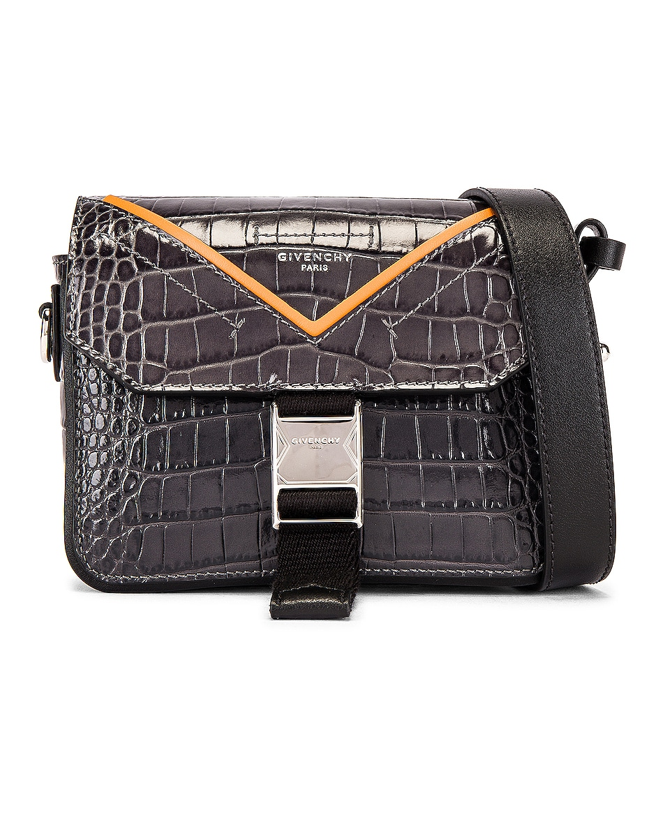 Image 1 of Givenchy Cross Body Bag in Grey & Orange