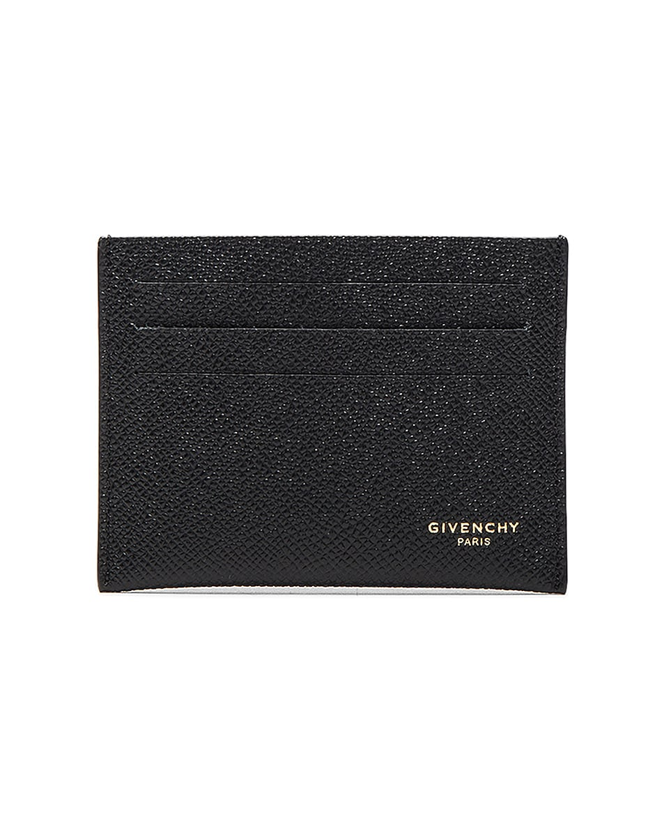 Image 1 of Givenchy Leather Double Cardholder in Black