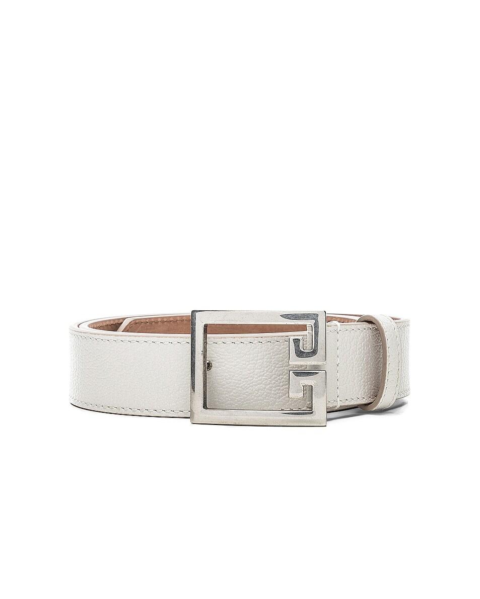 Image 1 of Givenchy Logo Belt in White