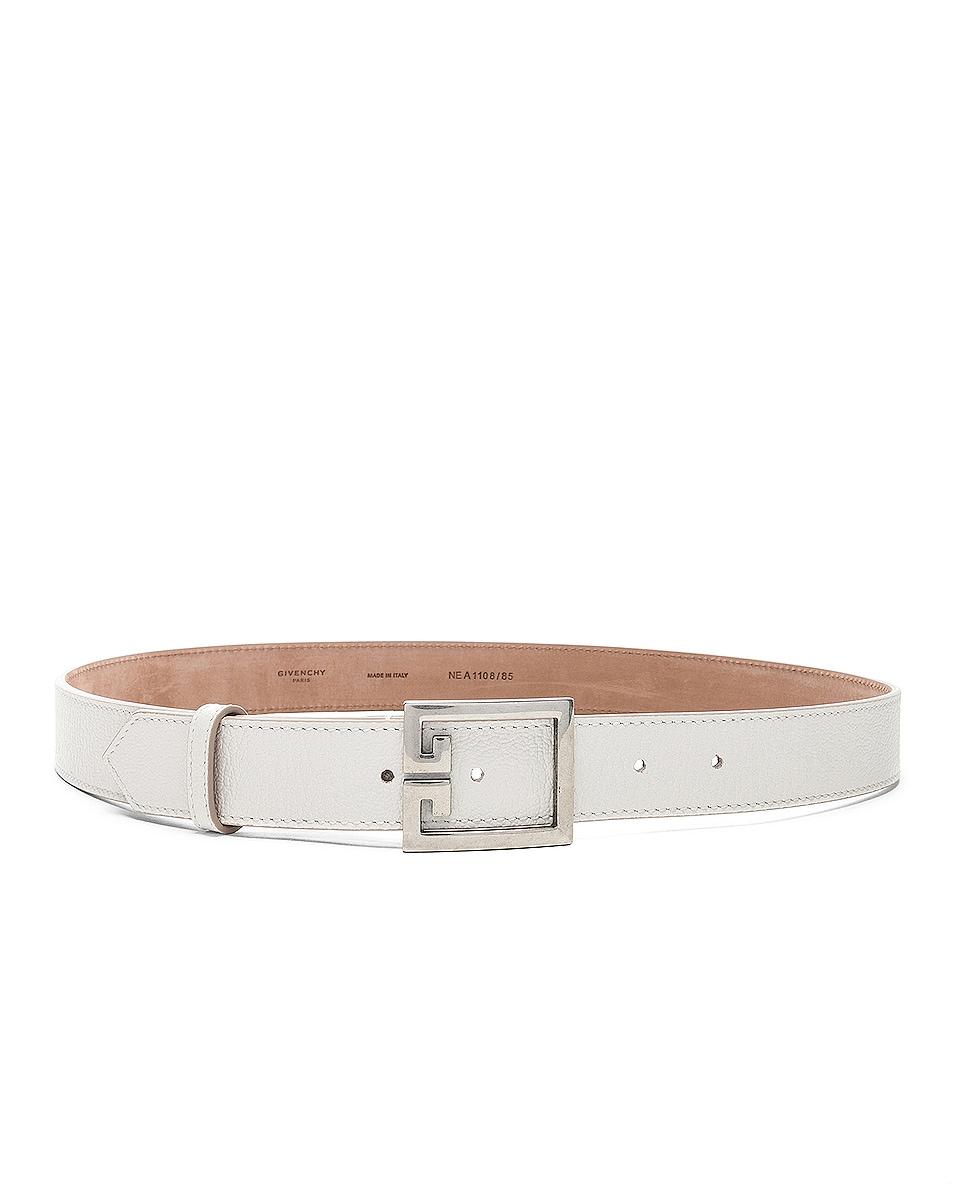 Image 2 of Givenchy Logo Belt in White