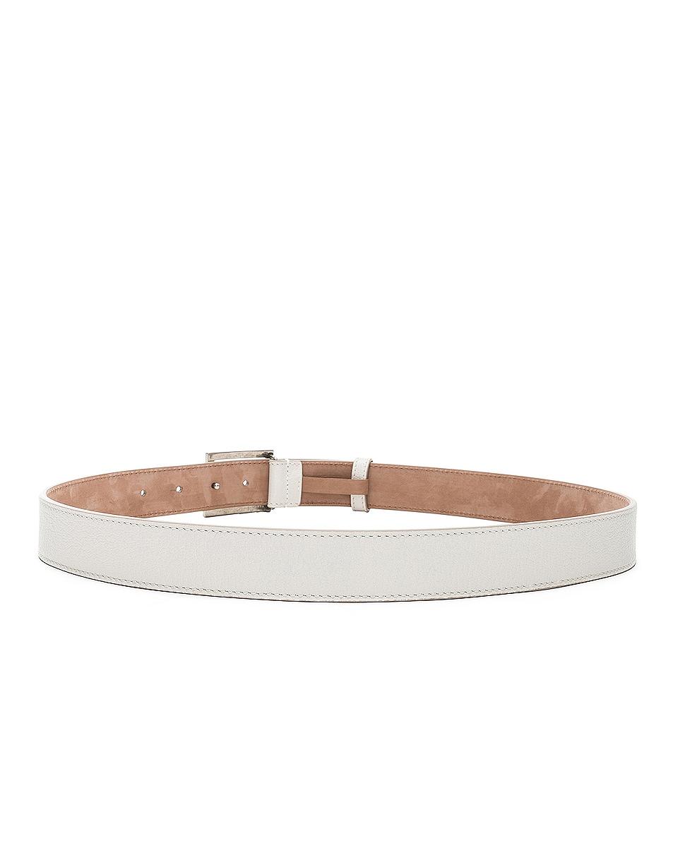 Image 3 of Givenchy Logo Belt in White