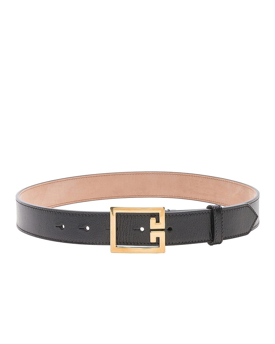 Image 1 of Givenchy Logo Belt in Black