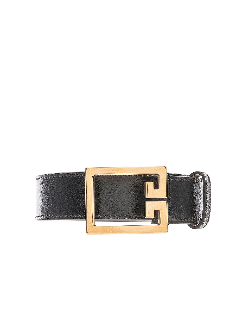 Image 3 of Givenchy Logo Belt in Black