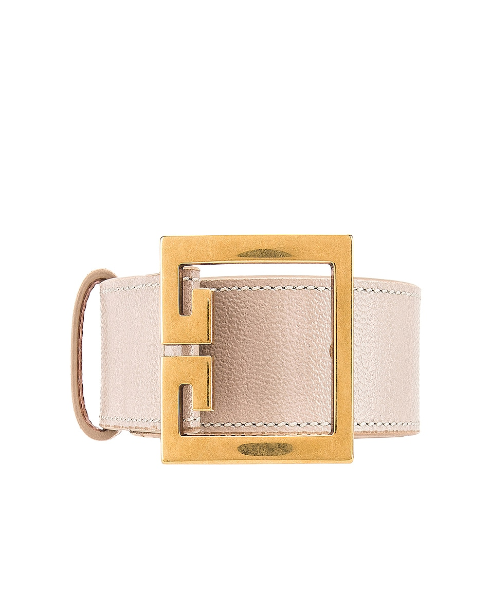 Image 1 of Givenchy Logo Buckle Belt in Natural