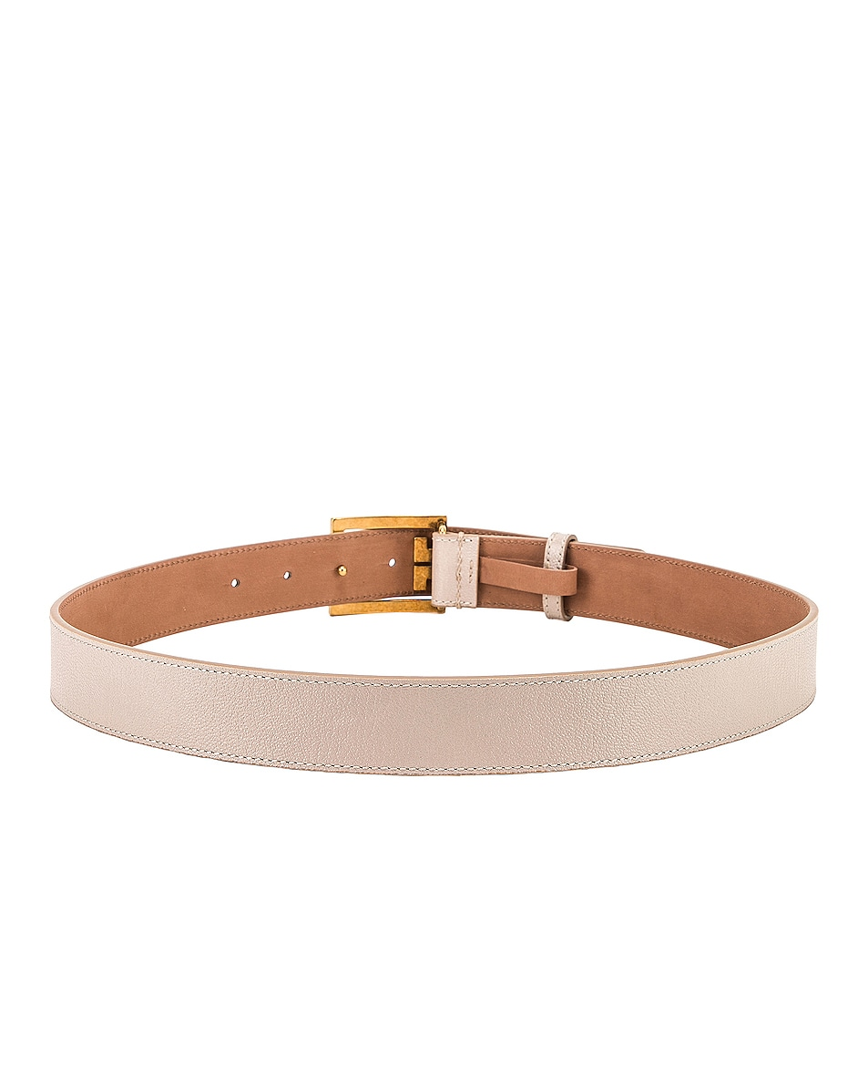 Image 3 of Givenchy Logo Buckle Belt in Natural