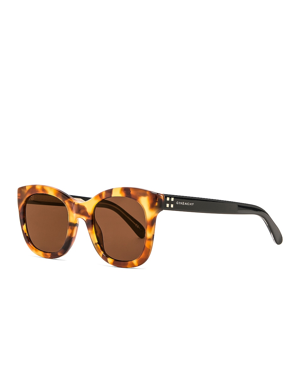 Image 2 of Givenchy Square Sunglasses in Brown & Havana