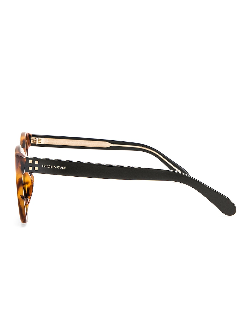 Image 3 of Givenchy Square Sunglasses in Brown & Havana