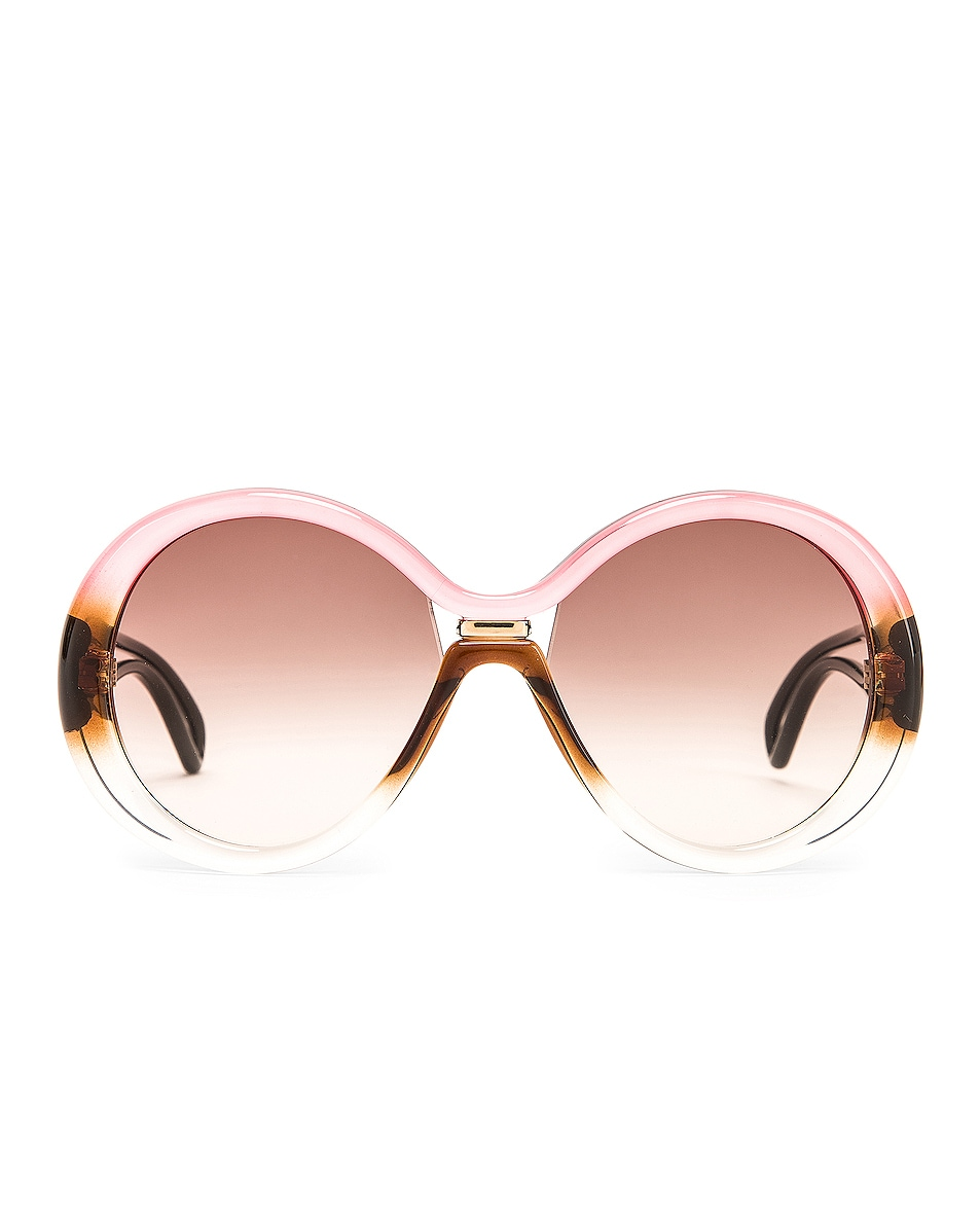 Image 1 of Givenchy Round Sunglasses in Brown & Peach