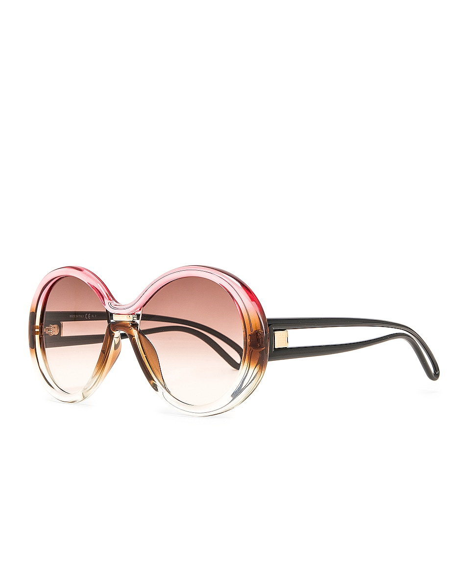 Image 2 of Givenchy Round Sunglasses in Brown & Peach