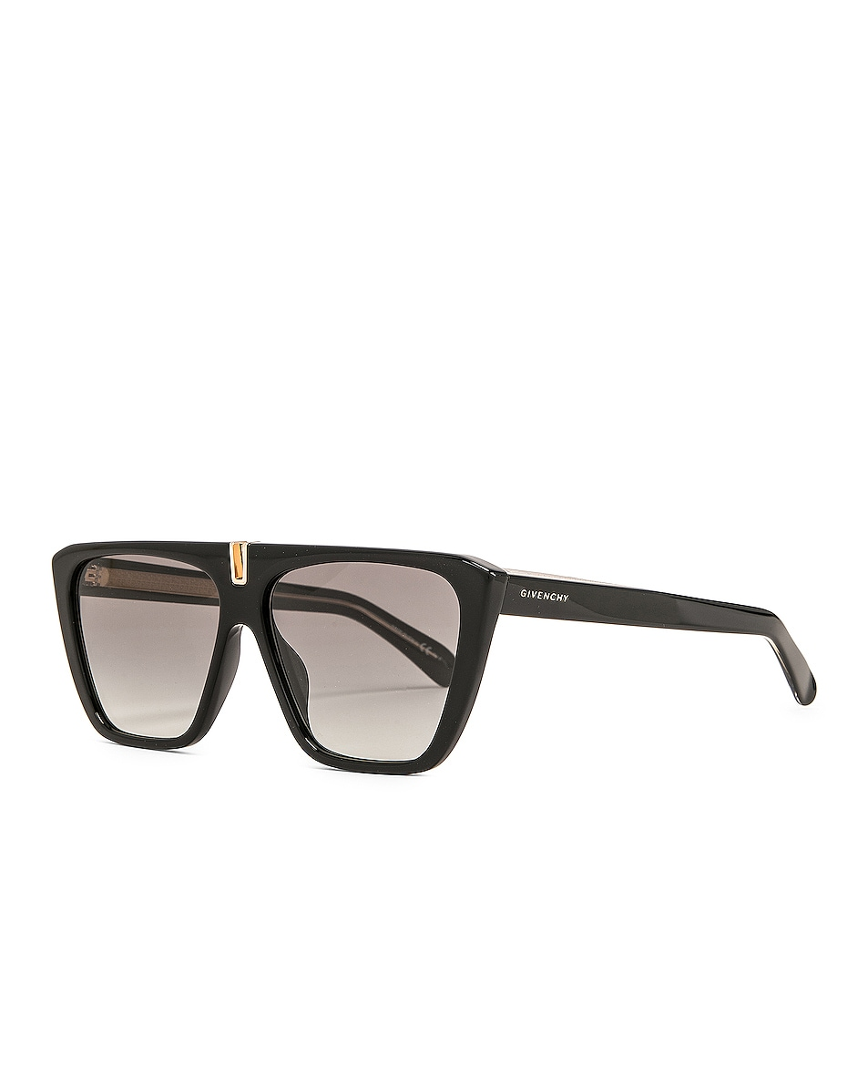 Image 2 of Givenchy Rectangle Sunglasses in Black