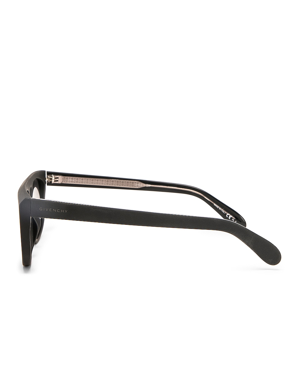 Image 3 of Givenchy Flat Top Sunglasses in Black