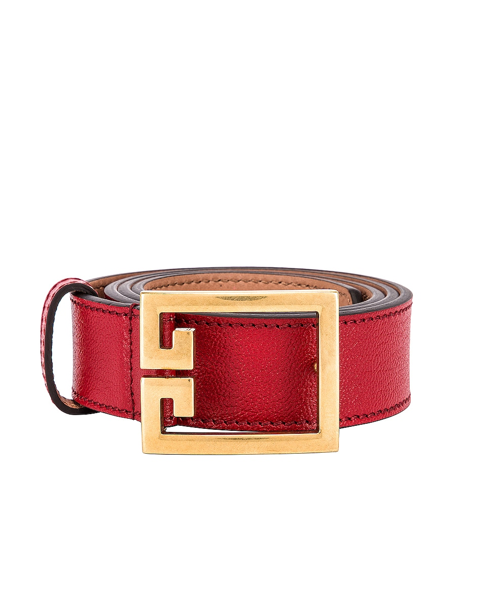 Image 1 of Givenchy Logo Buckle Belt in Vermillion