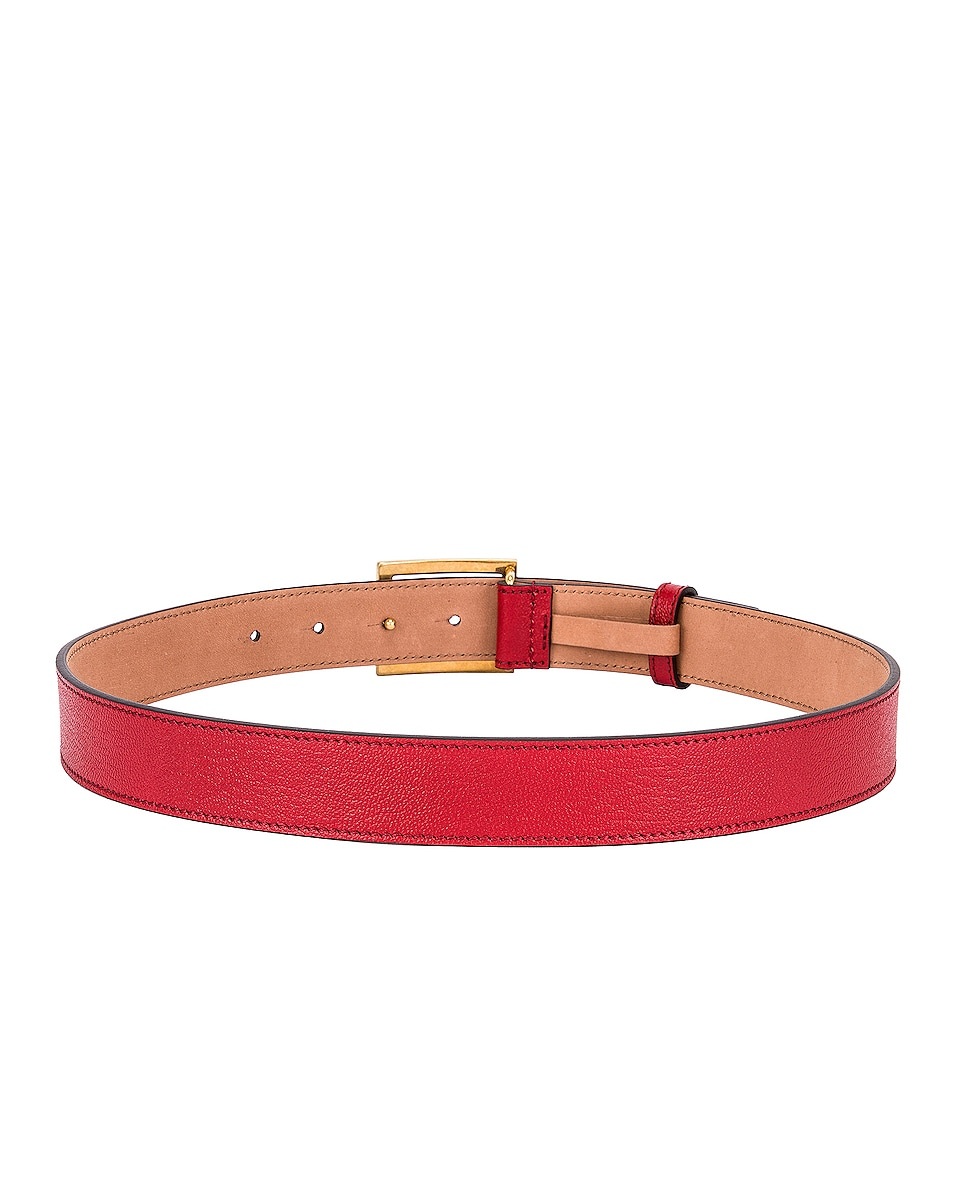 Image 3 of Givenchy Logo Buckle Belt in Vermillion