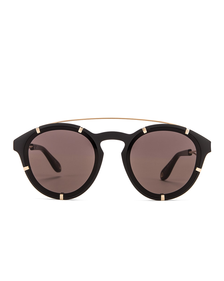 Image 1 of Givenchy Round Sunglasses in Black Gold