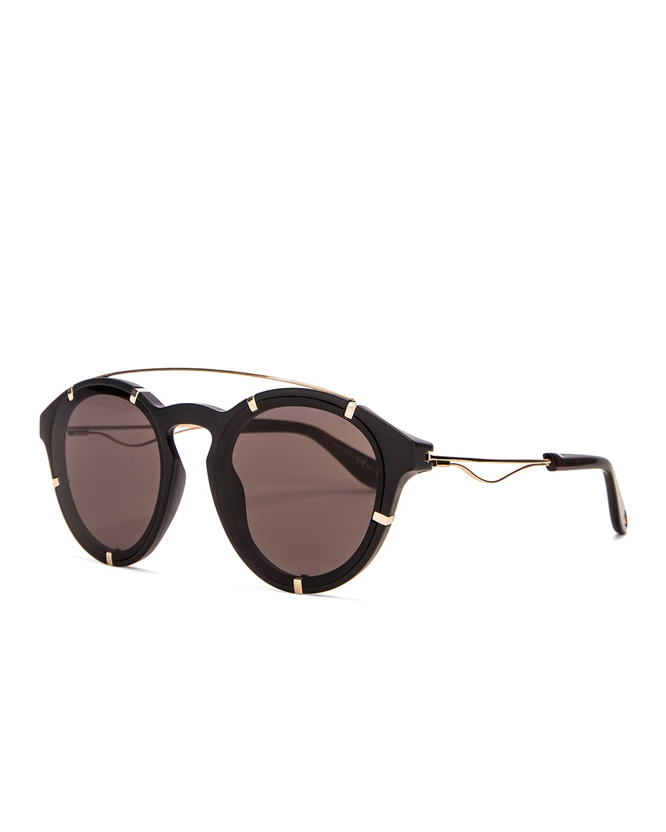 Image 2 of Givenchy Round Sunglasses in Black Gold