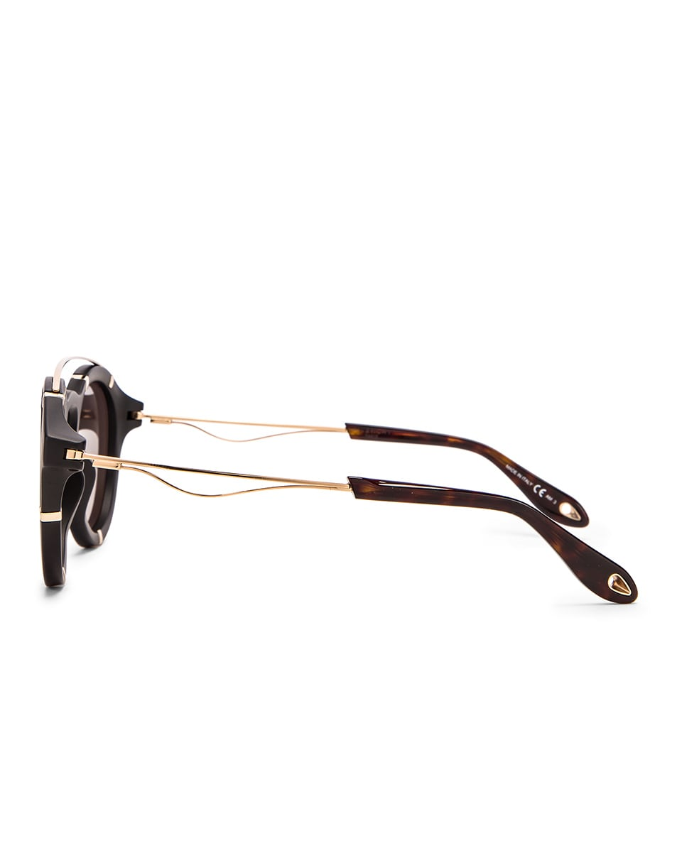 Image 3 of Givenchy Round Sunglasses in Black Gold