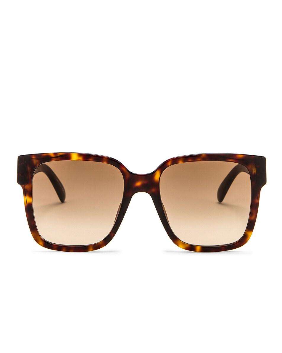 Image 1 of Givenchy Square Sunglasses in Dark Havana