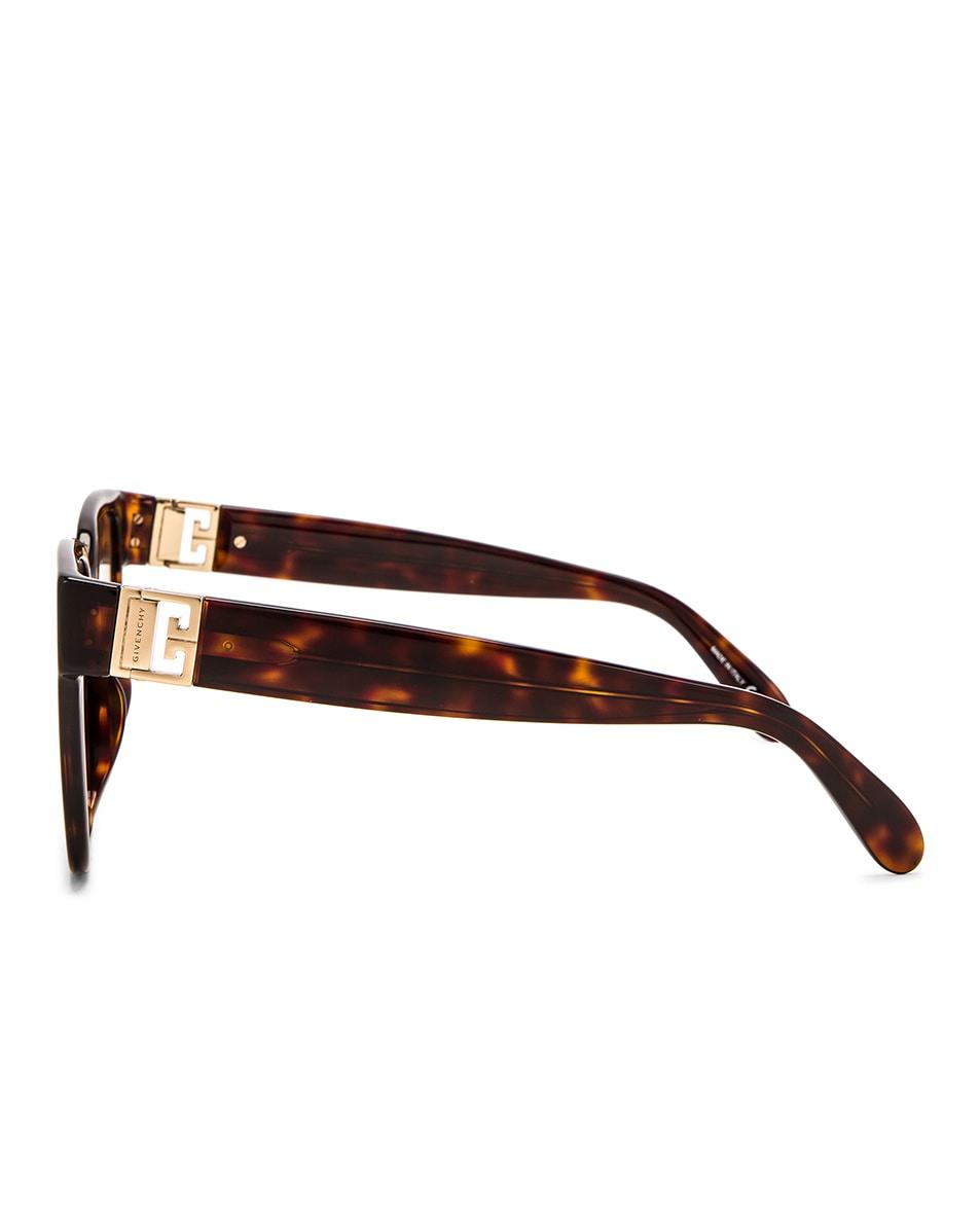 Image 3 of Givenchy Square Sunglasses in Dark Havana