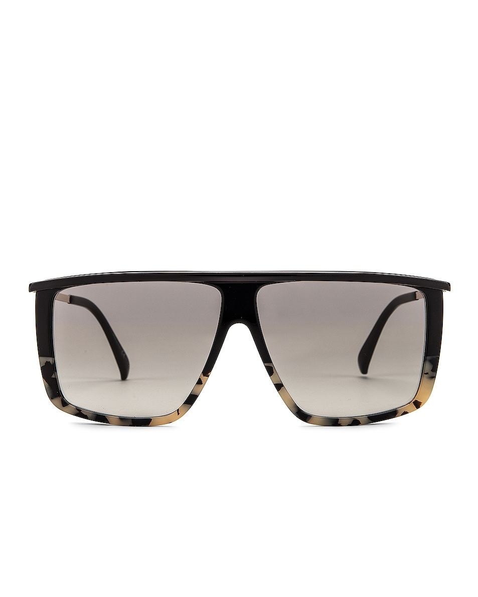 Image 1 of Givenchy Flat Top Sunglasses in White & Black Spot