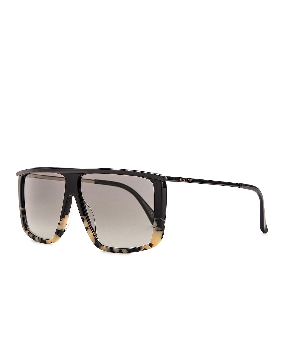 Image 2 of Givenchy Flat Top Sunglasses in White & Black Spot