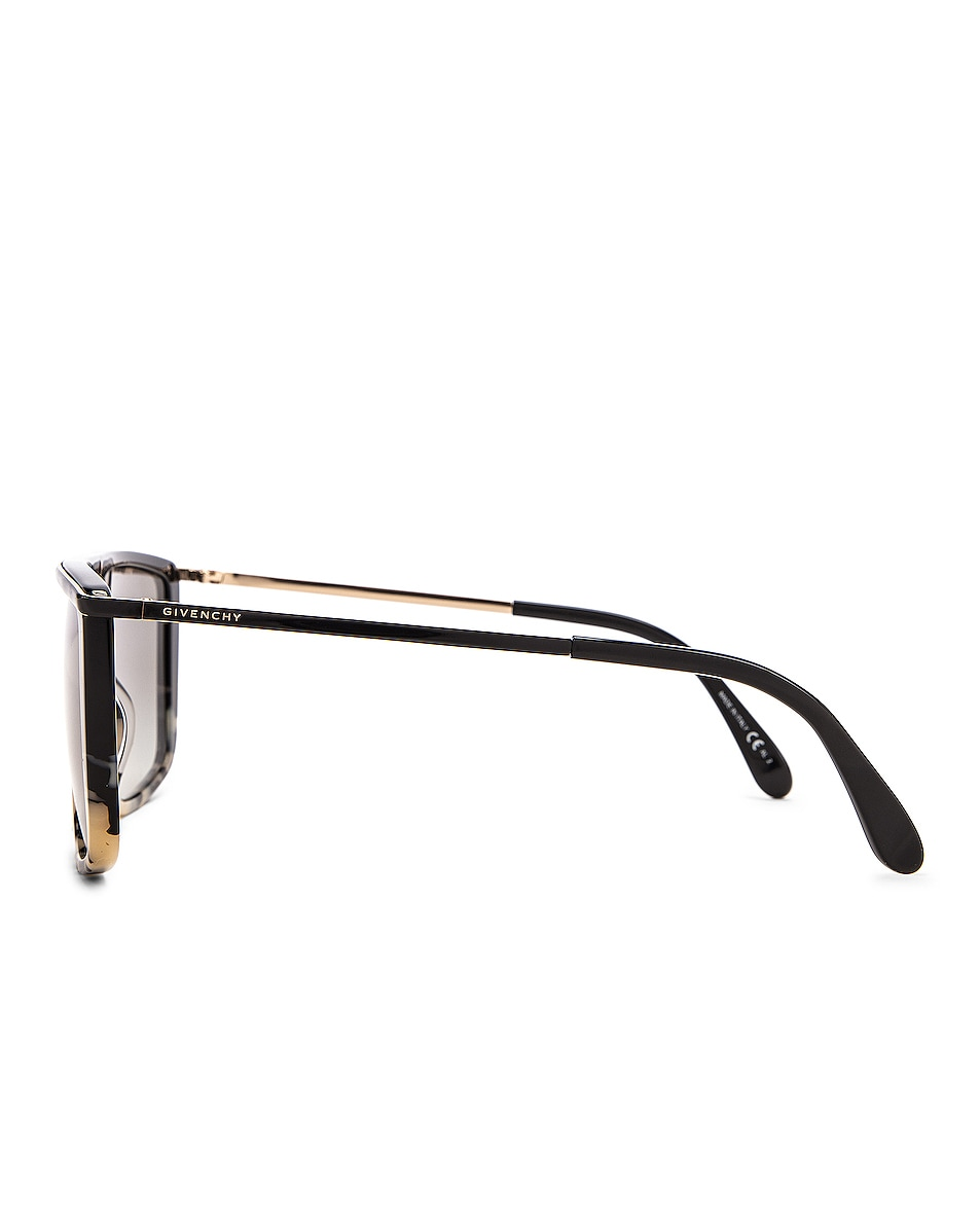Image 3 of Givenchy Flat Top Sunglasses in White & Black Spot
