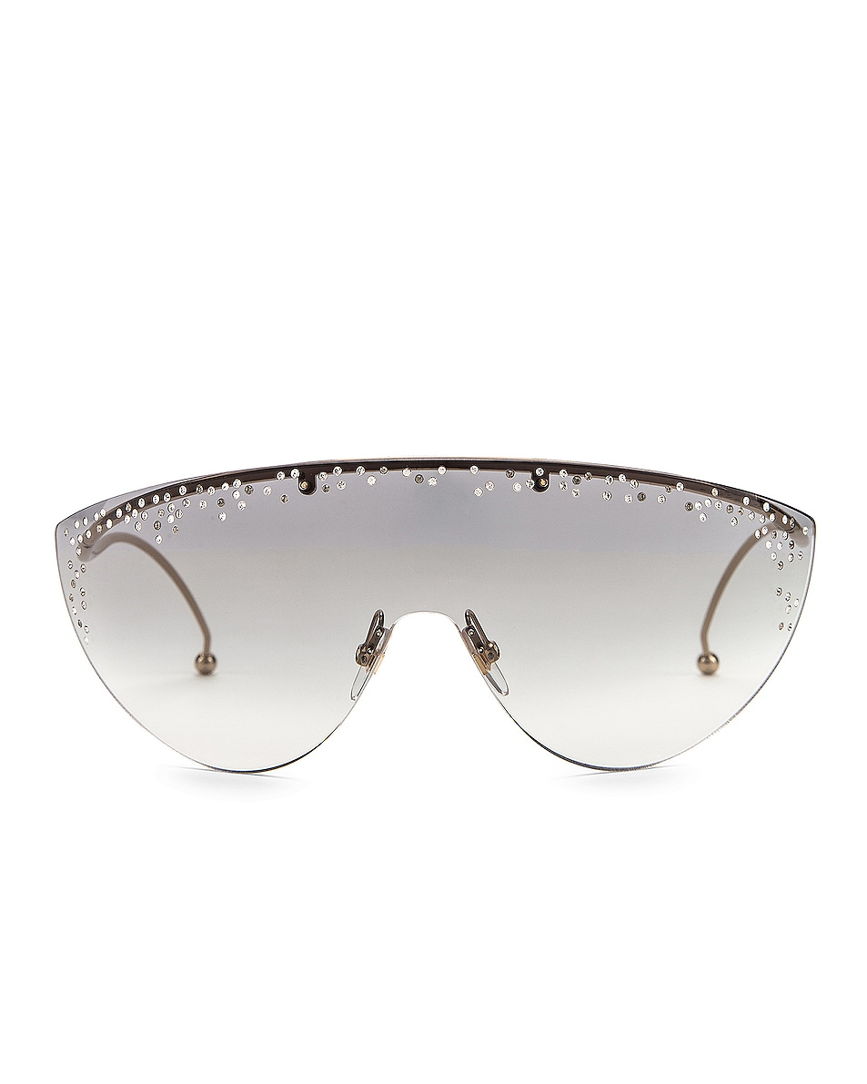 Image 1 of Givenchy Shield Sunglasses in Gold & Grey