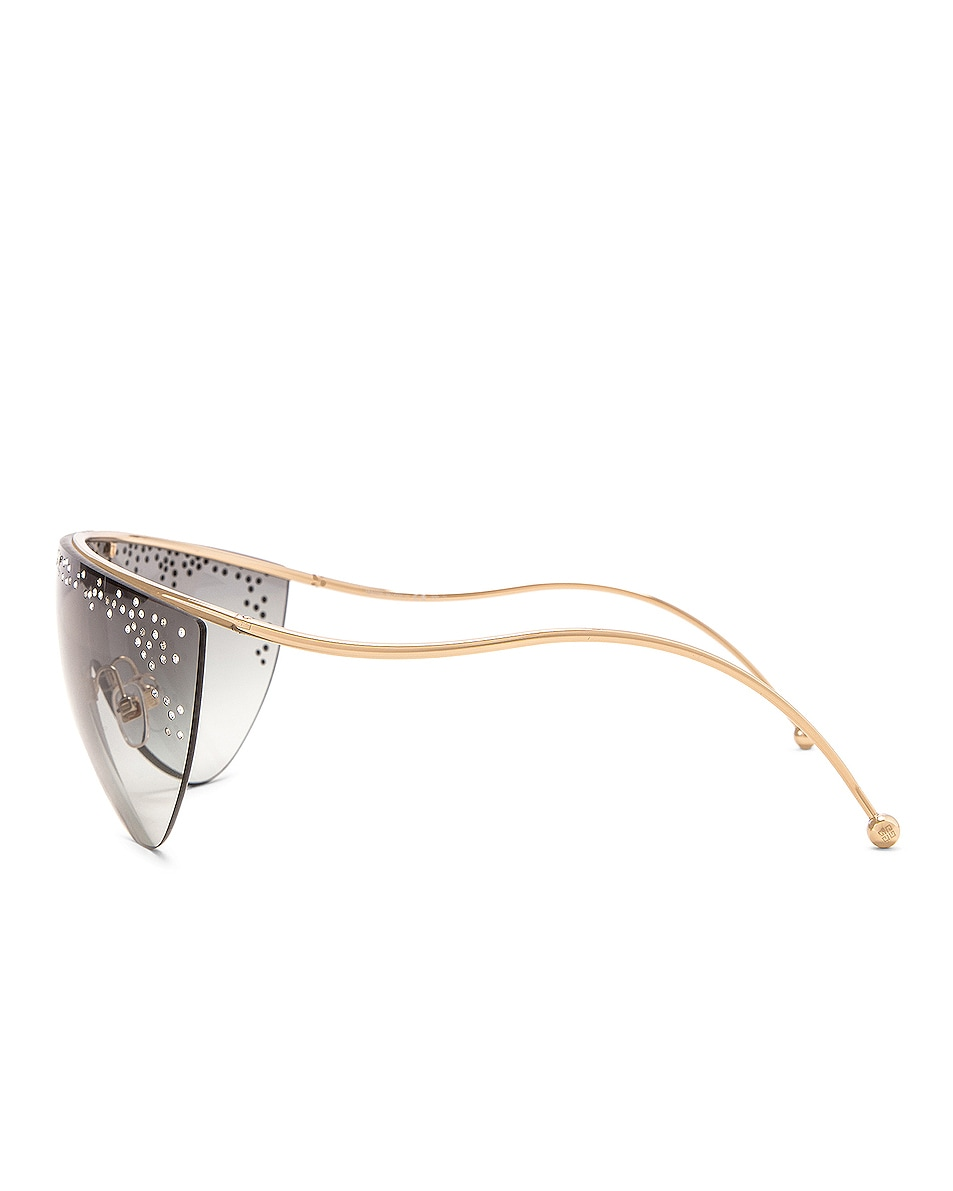 Image 3 of Givenchy Shield Sunglasses in Gold & Grey