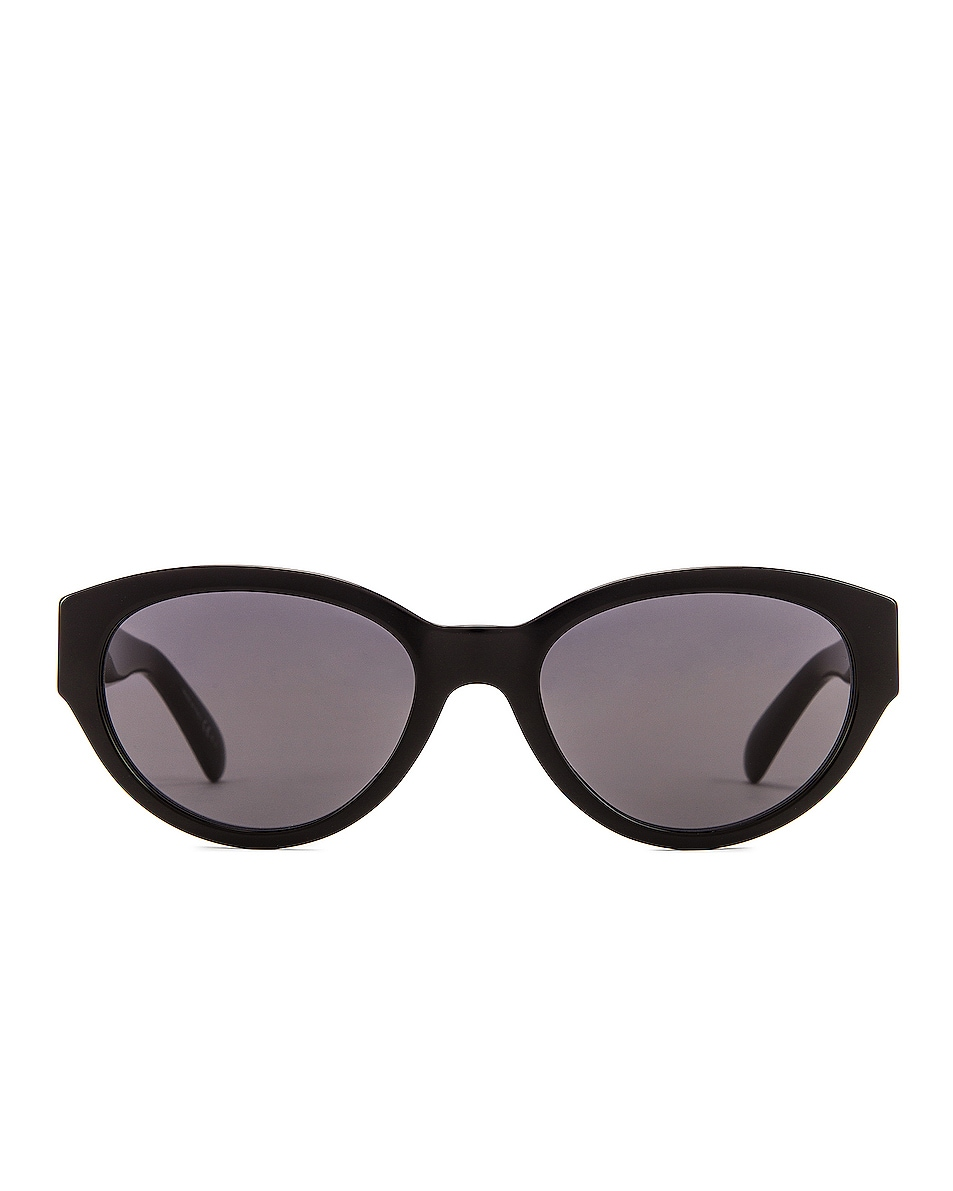 Image 1 of Givenchy Small Oval Sunglasses in Black