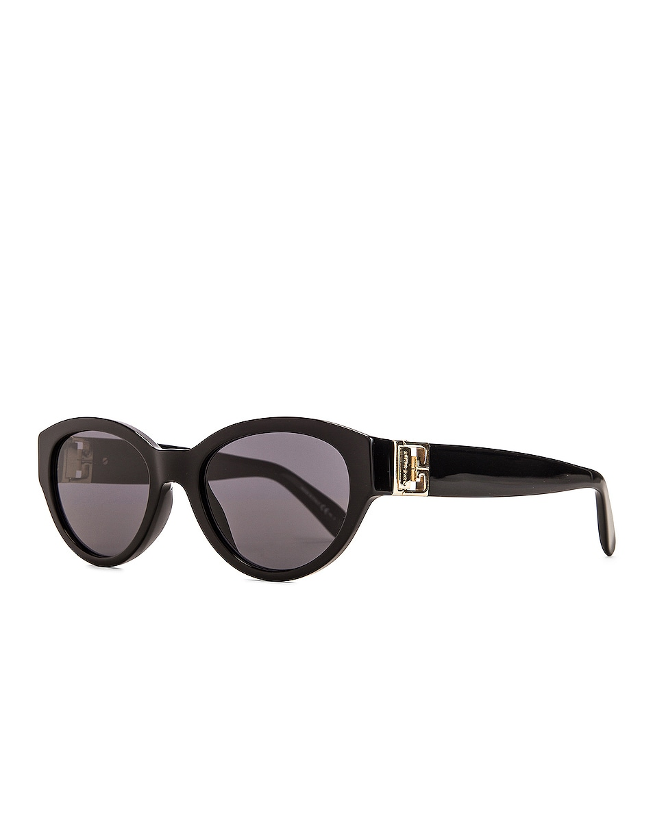 Image 2 of Givenchy Small Oval Sunglasses in Black