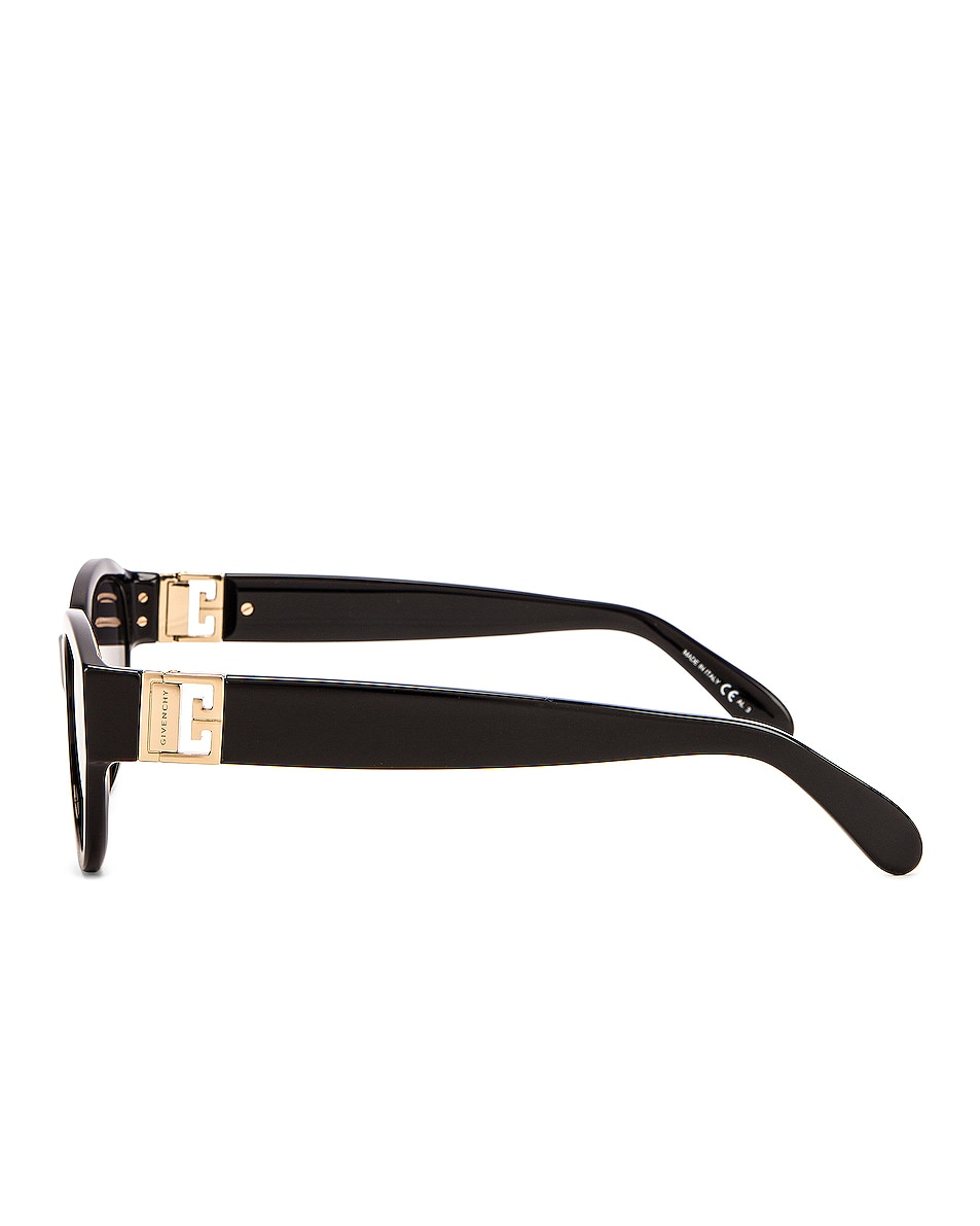 Image 3 of Givenchy Small Oval Sunglasses in Black