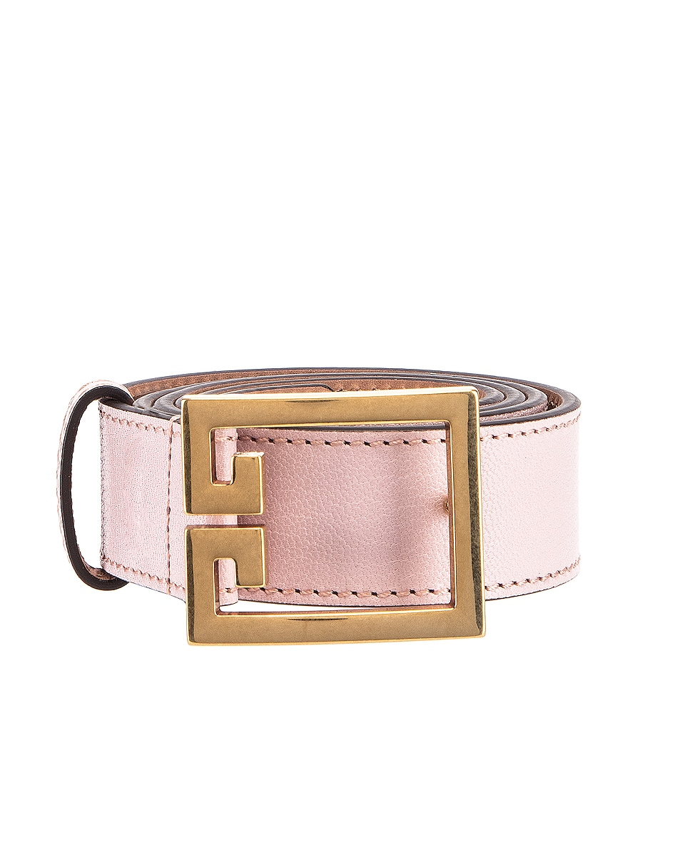 Image 1 of Givenchy GV3 Leather Buckle Belt in Pink