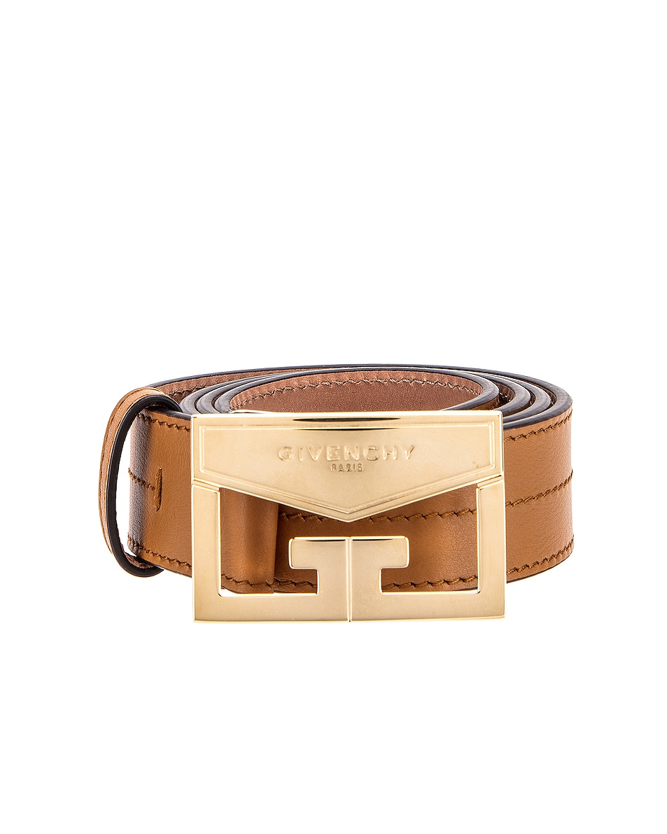 Image 1 of Givenchy Mystic Leather Belt in Desert