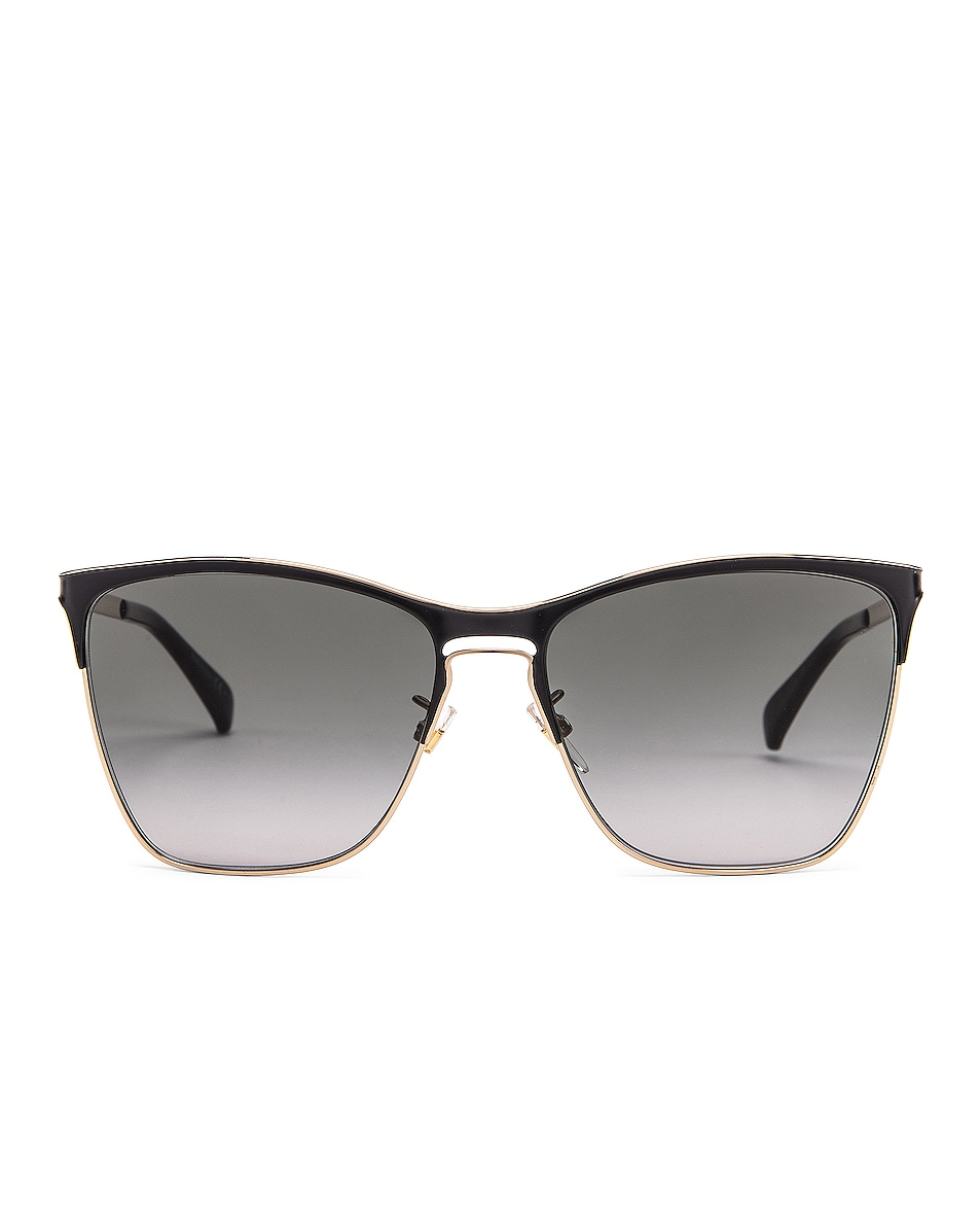 Image 1 of Givenchy Metal Square Sunglasses in Black & Gold