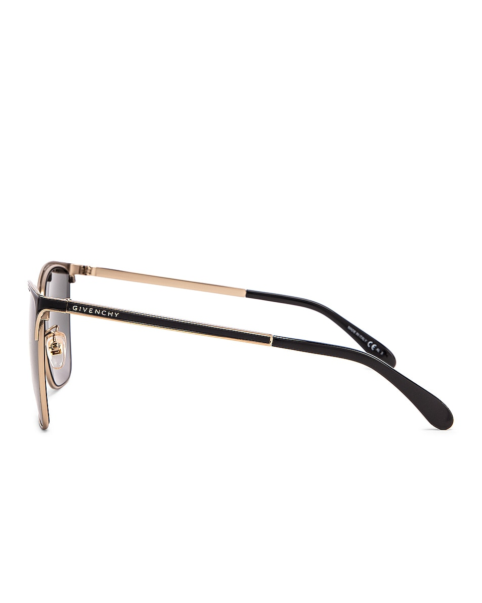 Image 3 of Givenchy Metal Square Sunglasses in Black & Gold