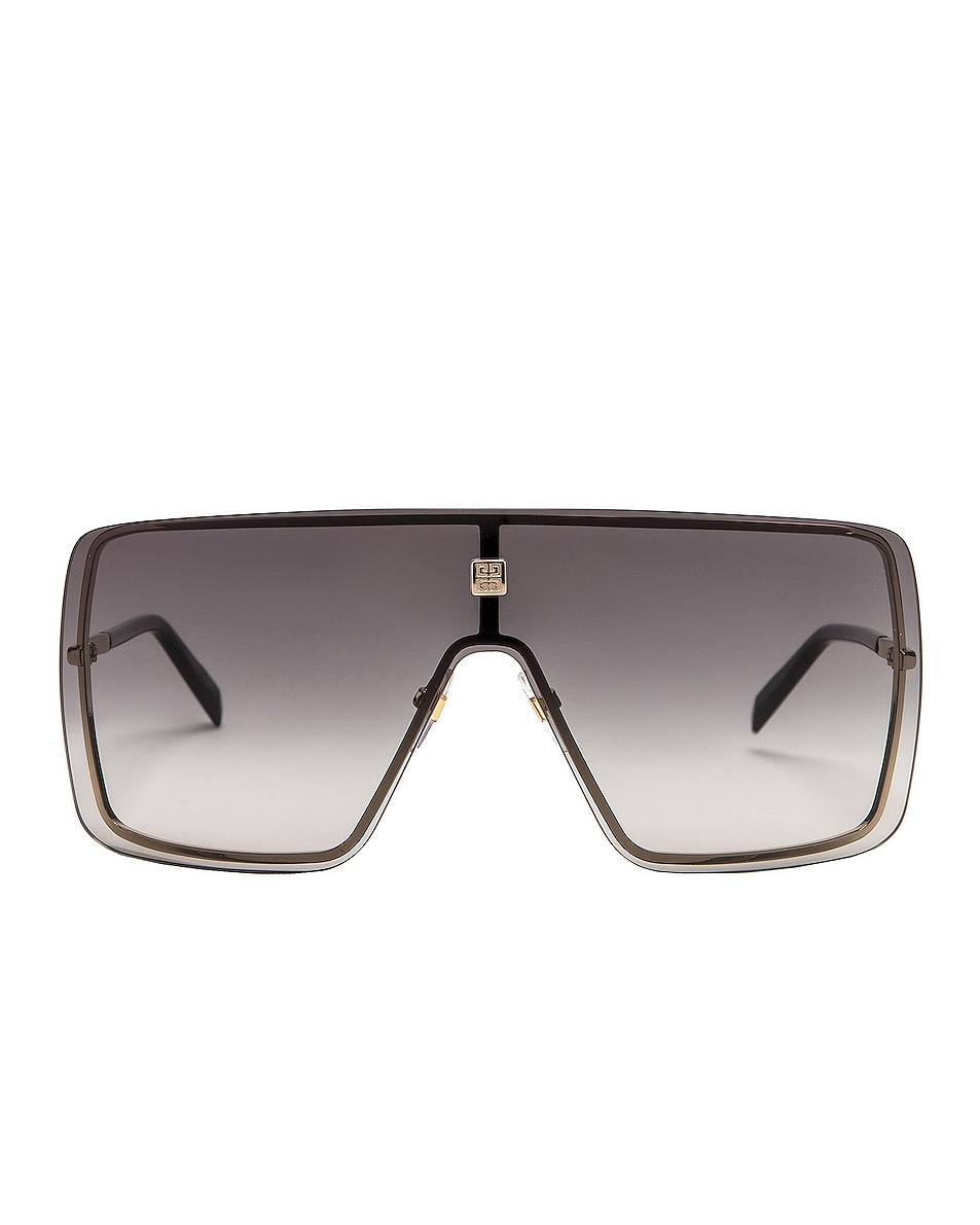 Image 1 of Givenchy Shield Sunglasses in Gold Grey