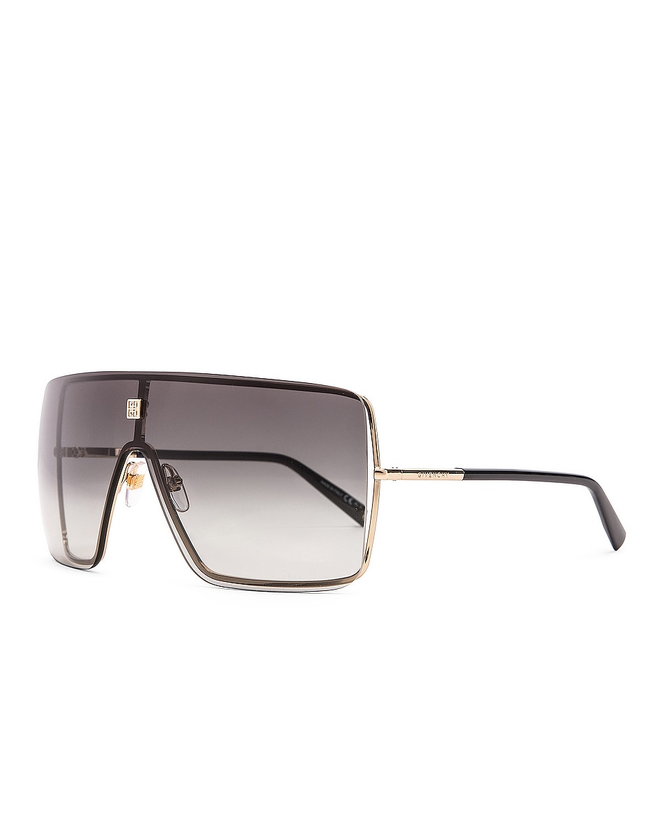 Image 2 of Givenchy Shield Sunglasses in Gold Grey
