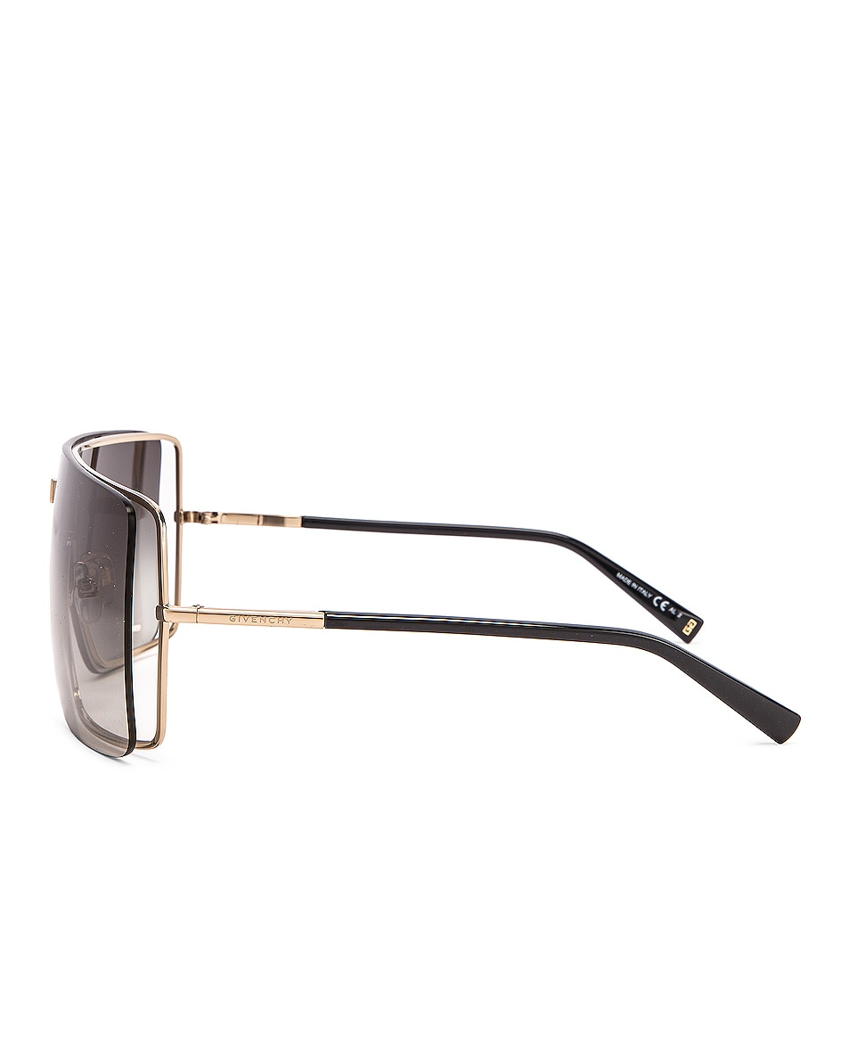 Image 3 of Givenchy Shield Sunglasses in Gold Grey