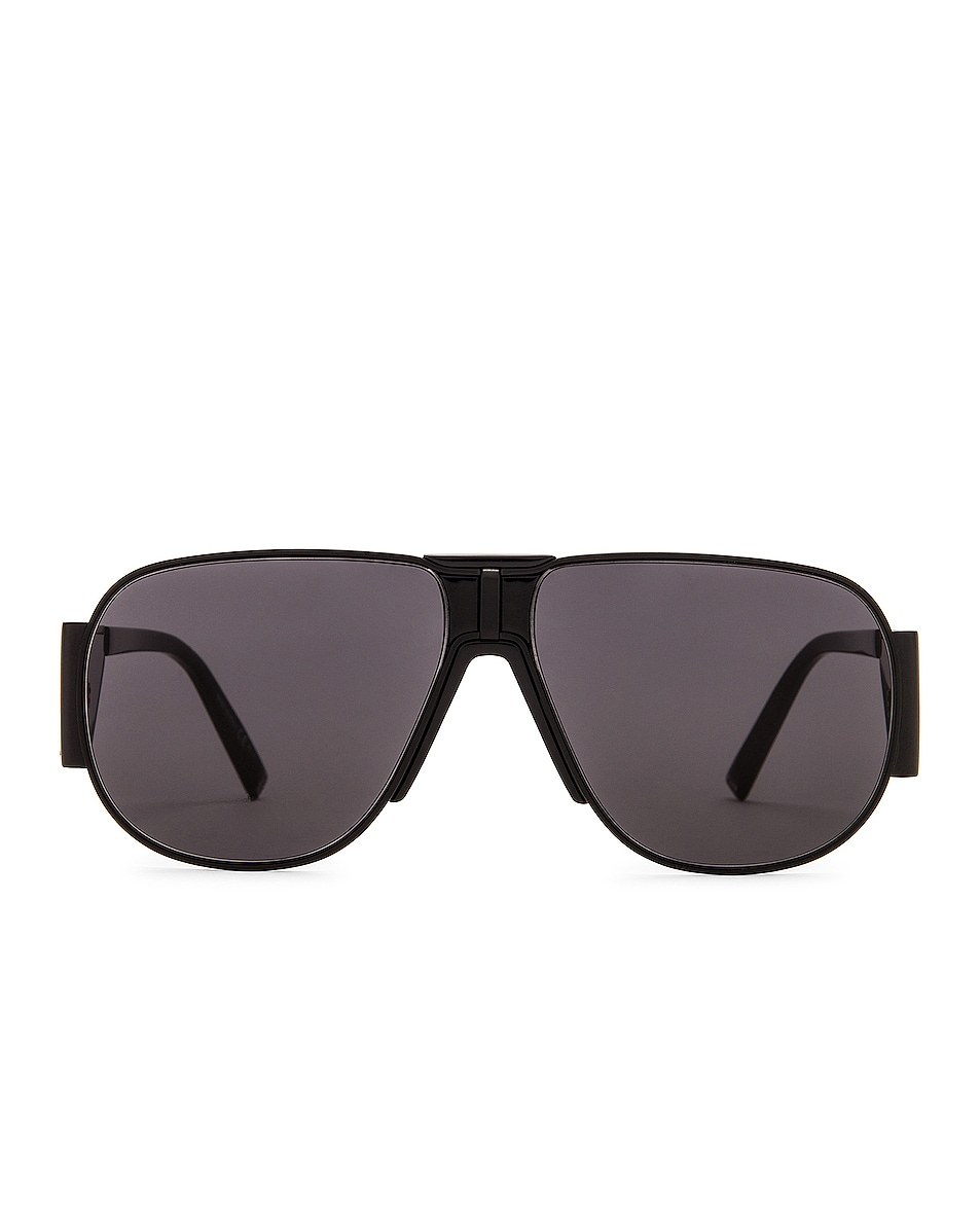 Image 1 of Givenchy Shield Sunglasses in Black & Grey Blue