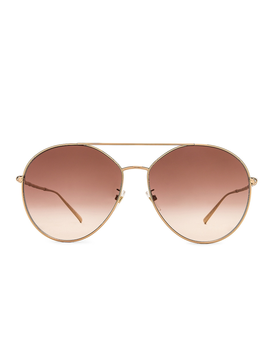 Image 1 of Givenchy Round Sunglasses in Gold & Brown Gradient
