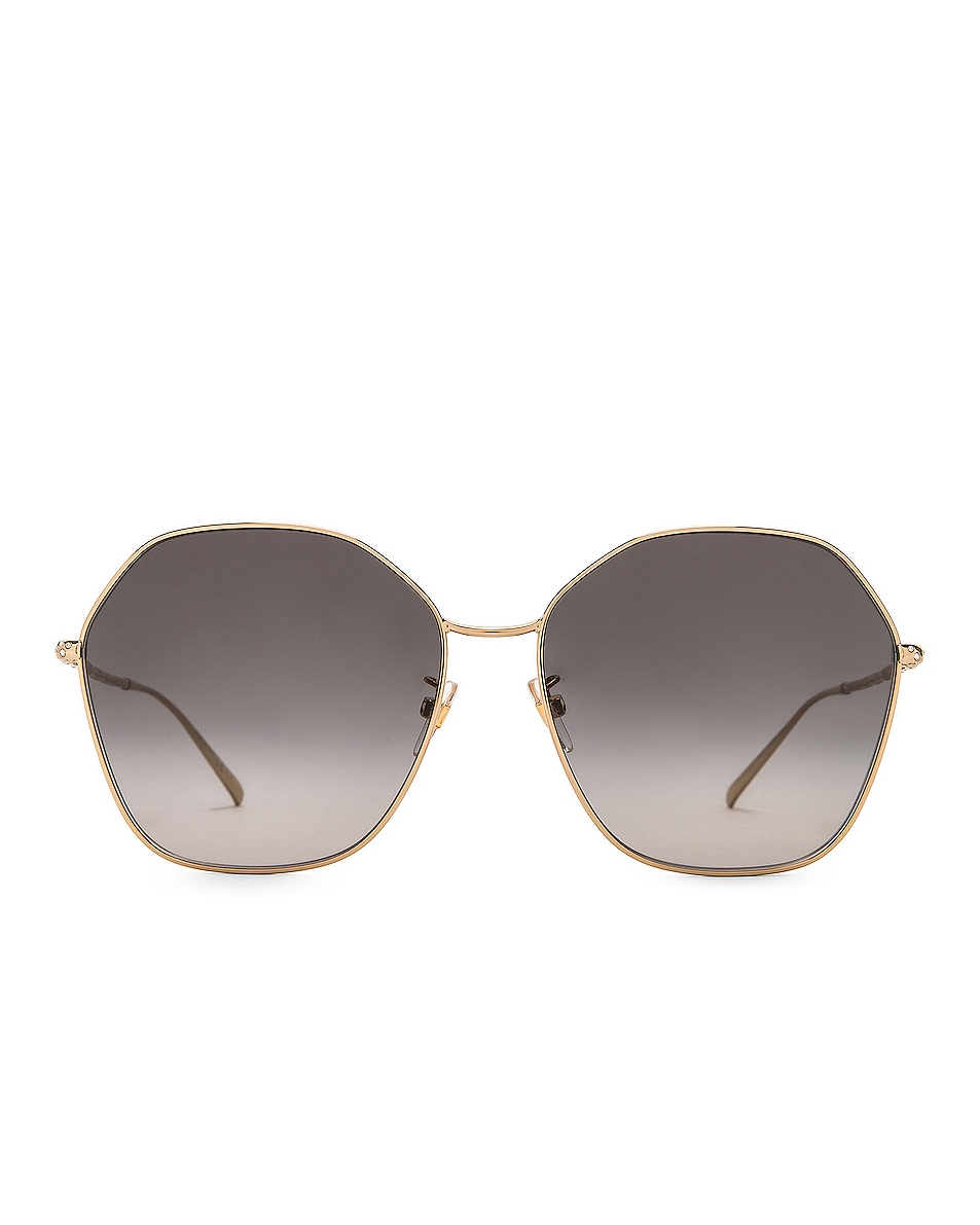 Image 1 of Givenchy Hexagon Sunglasses in Gold & Dark Grey